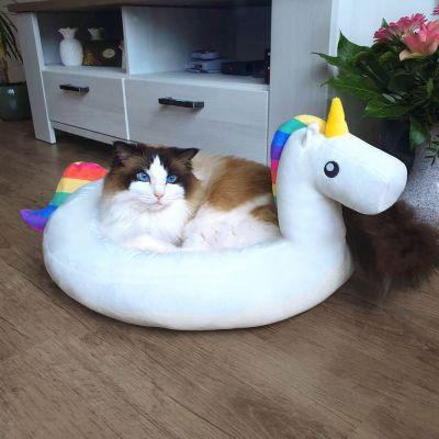 Einhorn Geschenke - Einhorn Kuschelplatz für Hund und Katze