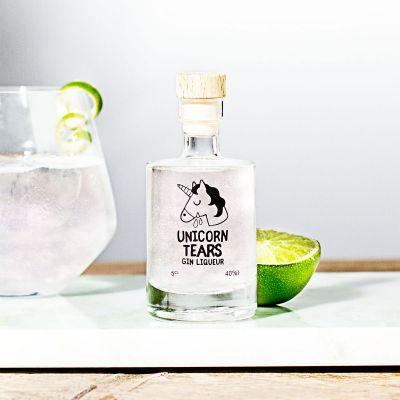 Mini Einhorn-Tränen Likör mit Gin