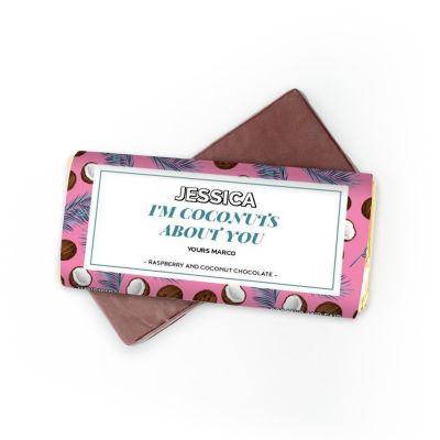 Hochzeitstag Geschenk - Schokolade mit 4 Zeilen