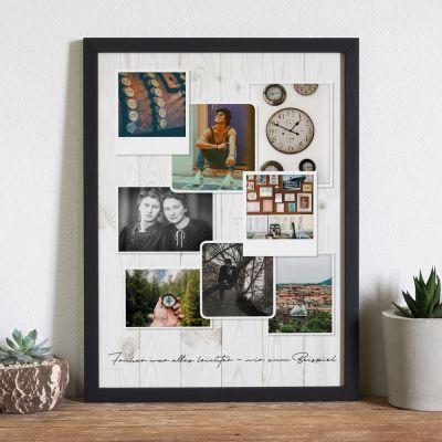 Abschiedsgeschenk - Personalisierbares Foto-Poster im Vintage Look