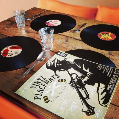 Adventskalender füllen - Vinyl Tischsets 4er Set