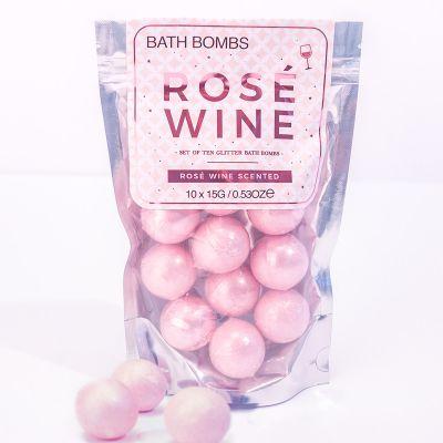 Romantische Geschenke - Badebomben Rosé-Wein