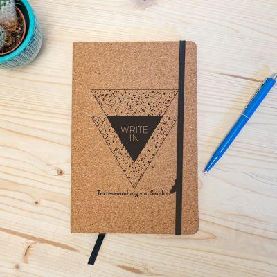Exklusive Notizbücher - Personalisierbares Kork Notizbuch - Write In