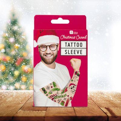 Accessoires - Ärmel mit Weihnachts-Tattoos
