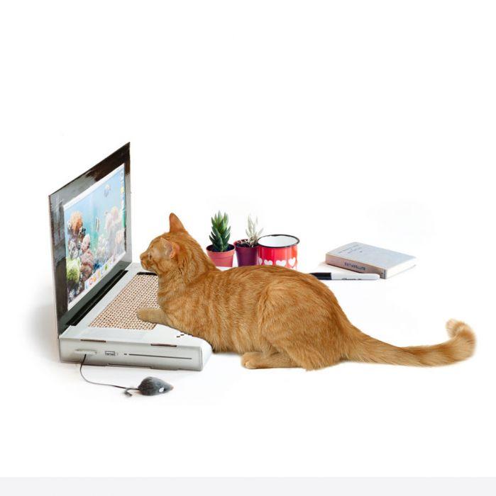 Kratz-Laptop für Katzen