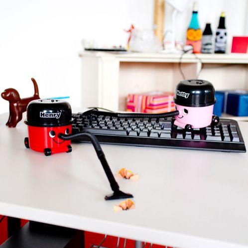 Geburtstagsgeschenke - Schreibtisch-Staubsauger Henry & Hetty