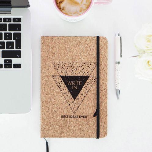Personalisierbares Kork Notizbuch - Write In