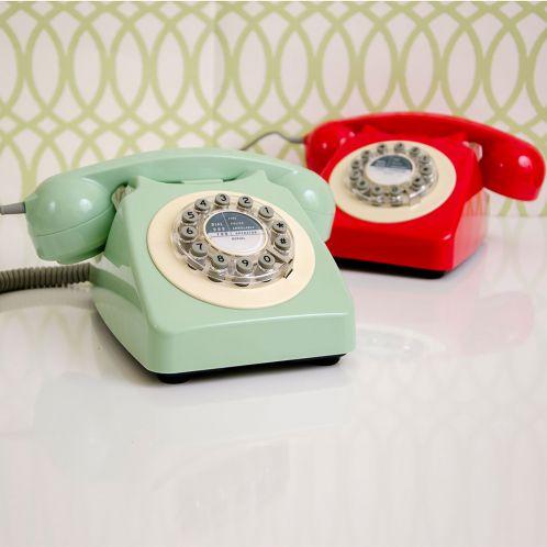 Geschenkideen - Retro-Telefon in Rot oder Grün