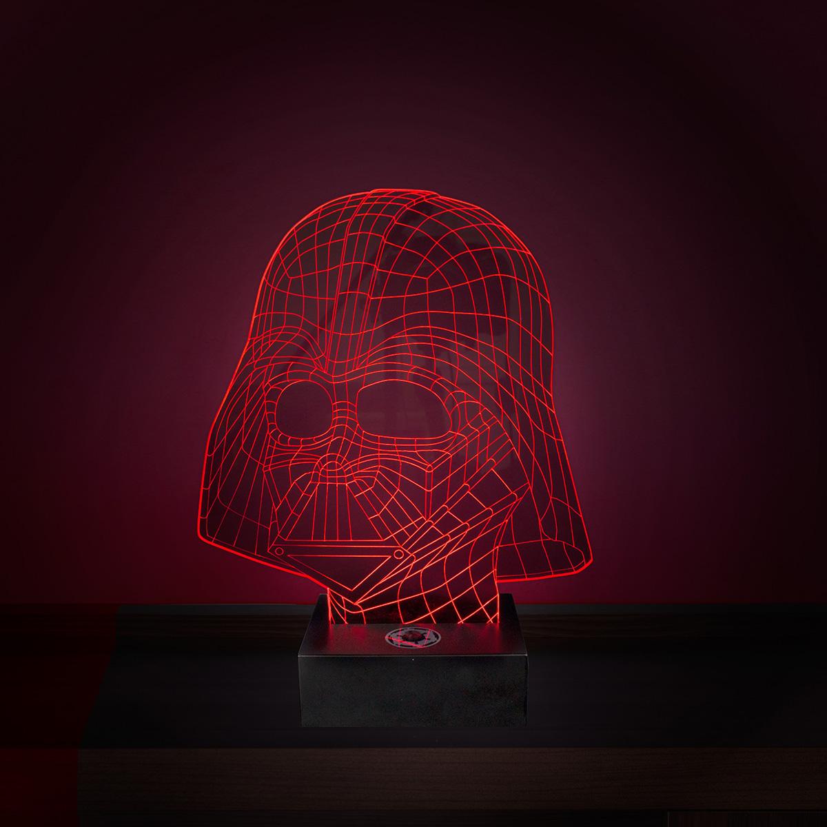 Star Wars Darth Vader Leuchte mit 3D Effekt