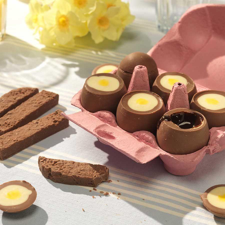 Schoko-Eier zum Dippen
