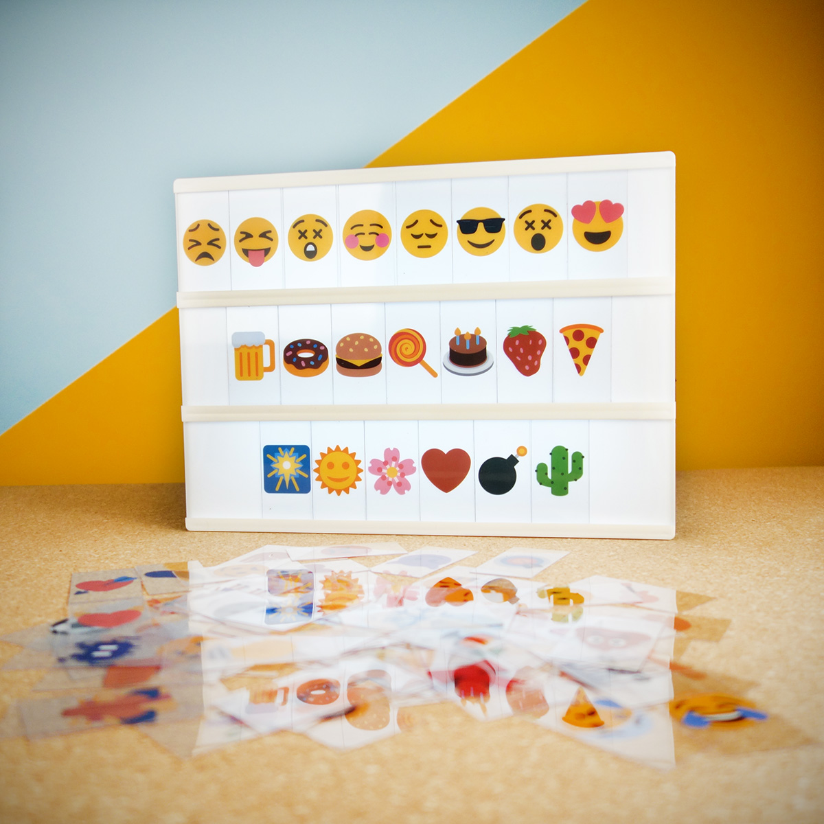 Emoji Set für Tischleuchte Kino Leuchtreklame