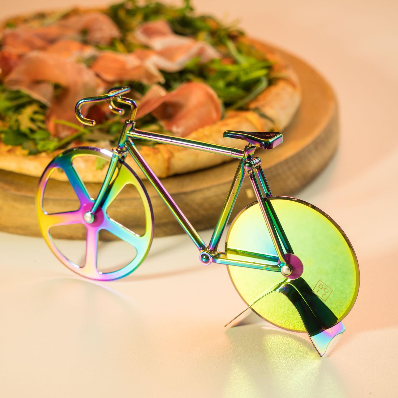 Fahrrad Pizzaschneider Schillernd Irisierend