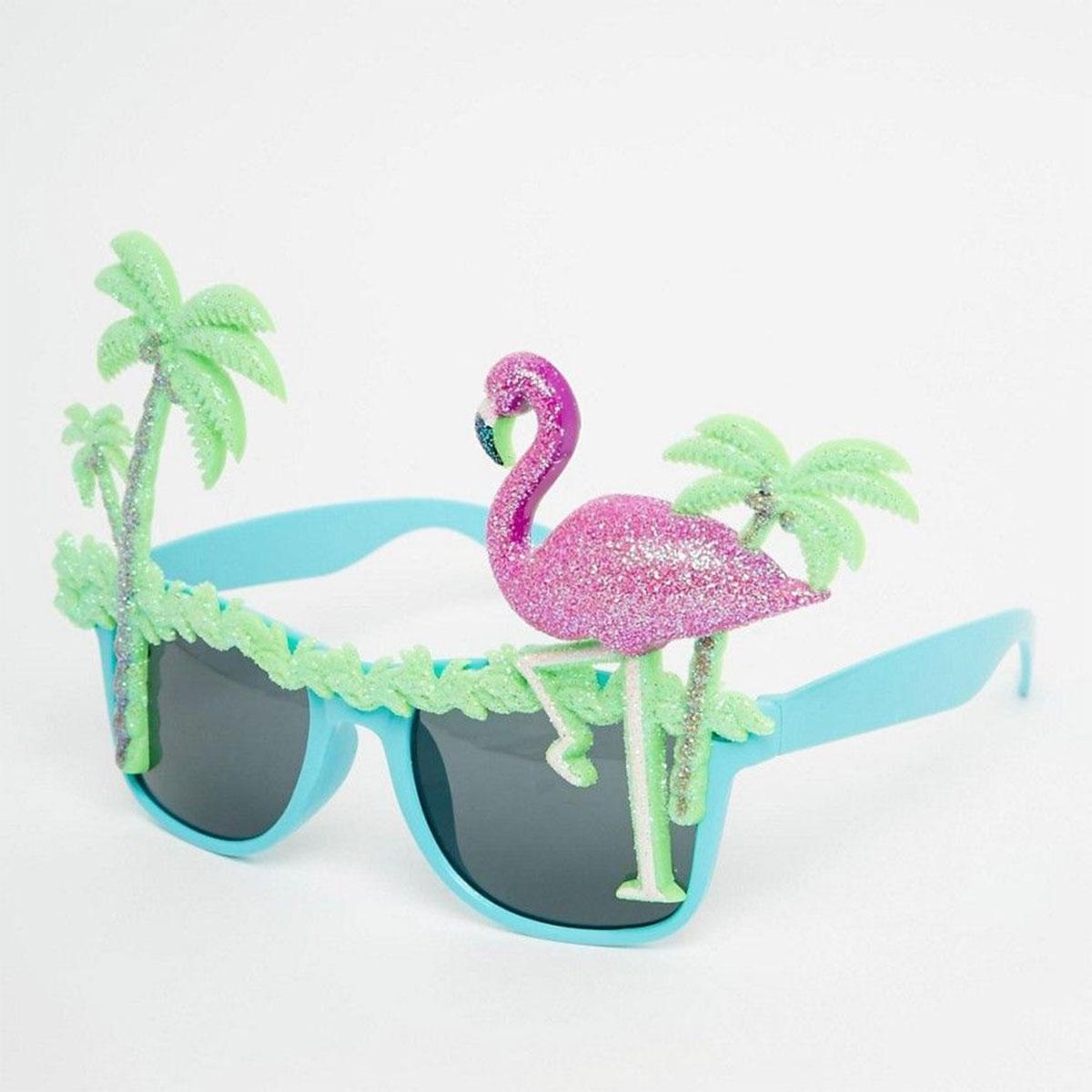 Flamingo Sonnenbrillen mit Palmen