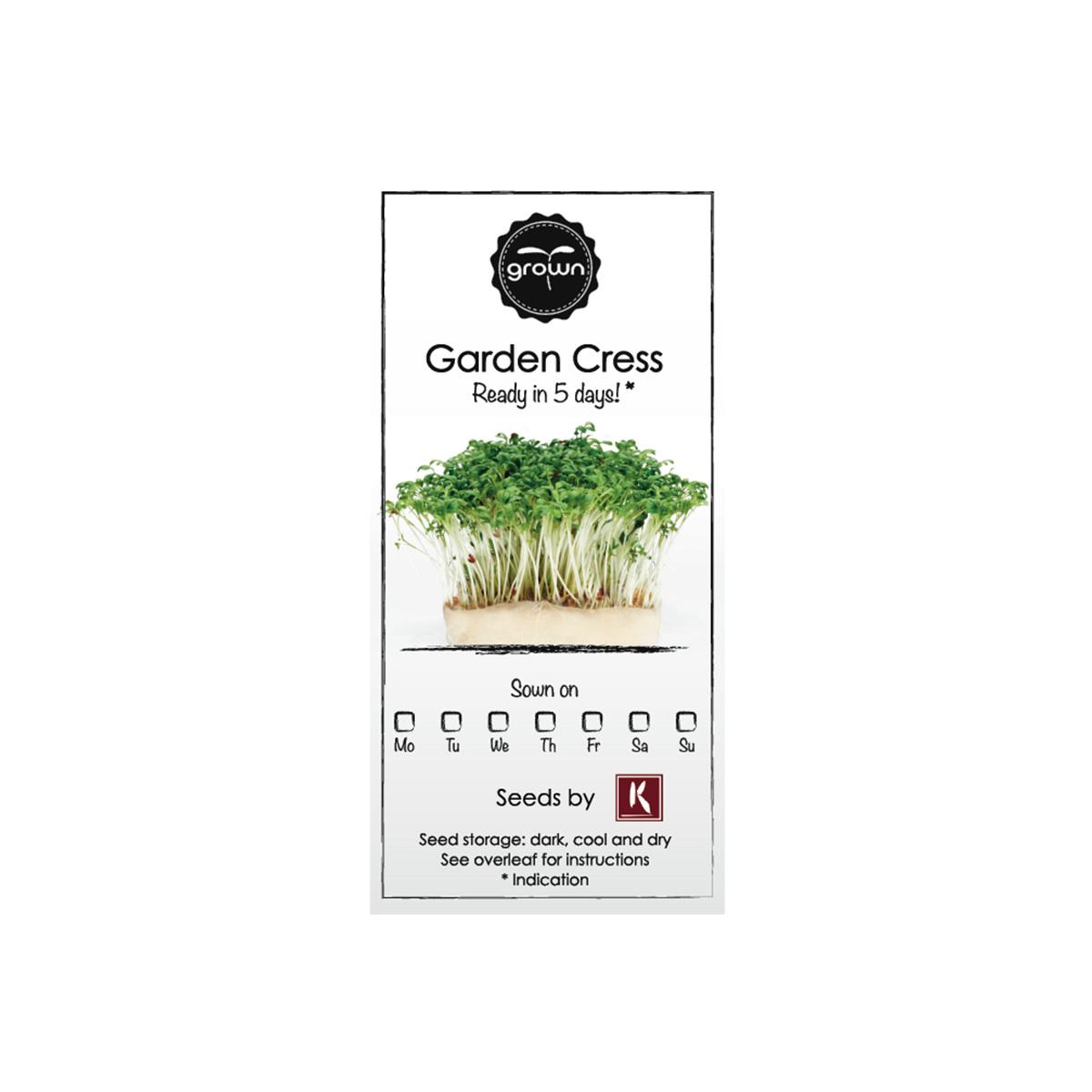 Nachfüllpacks für Kresse Kräutergarten - Rucola Kresse 2er Set