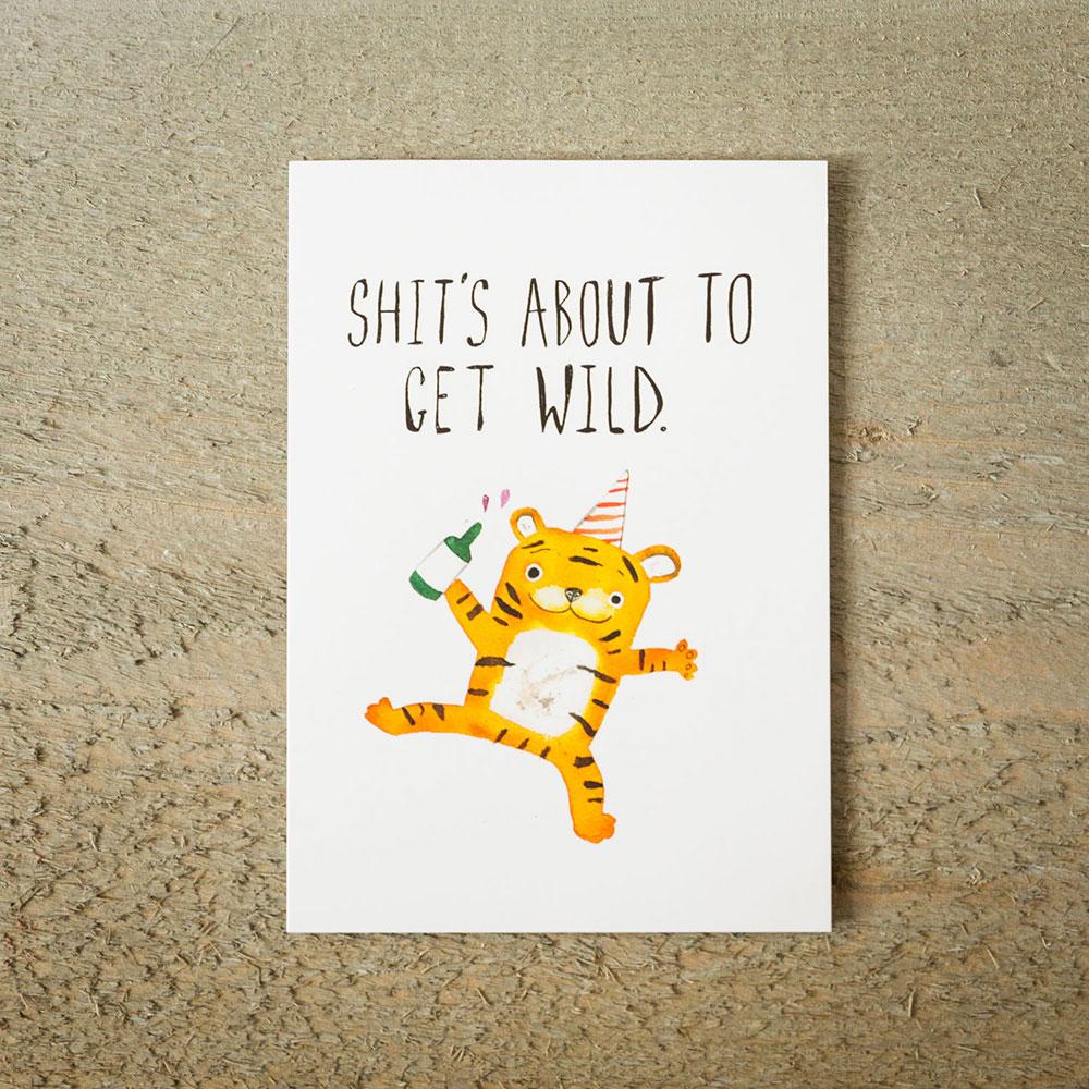 Grußkarte Partytiger