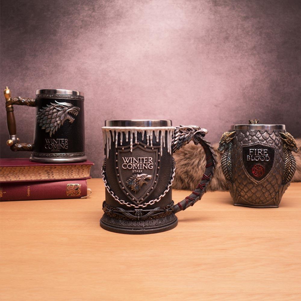 Game Of Thrones Bierkrüge House Stark (runder Henkel)