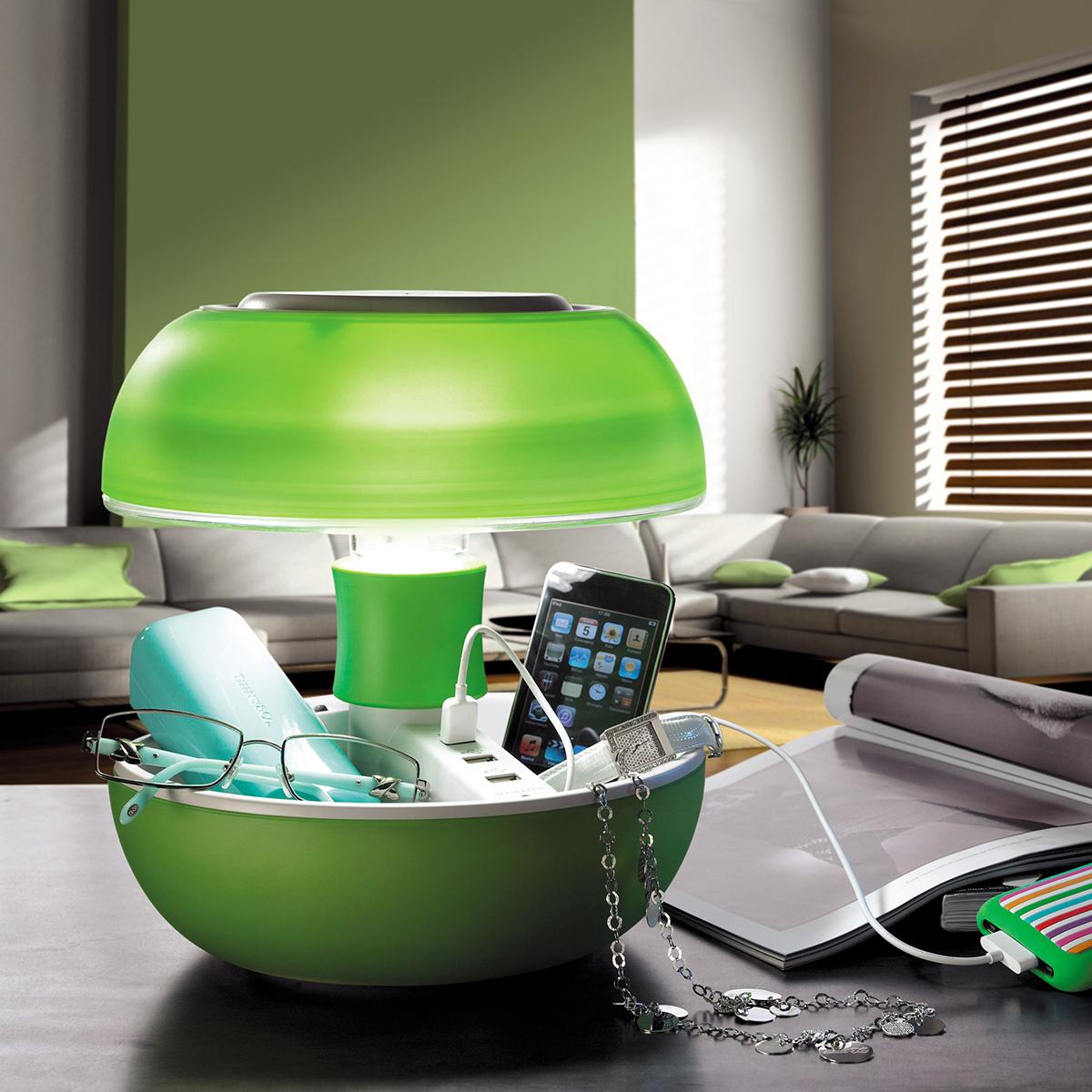 JOYO Tischlampe mit USB Ports Grün