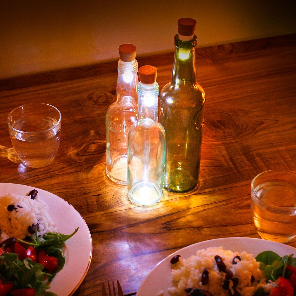 LED Flaschenlicht mit USB - Mehrfarbig (Multico...