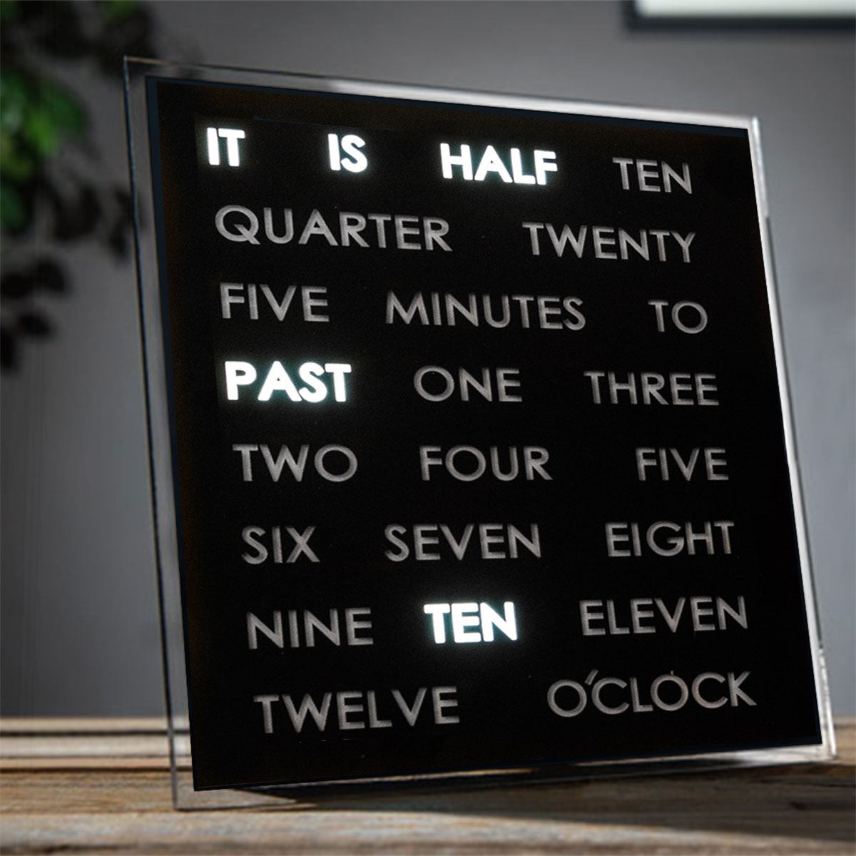 LED Word Clock Französisch