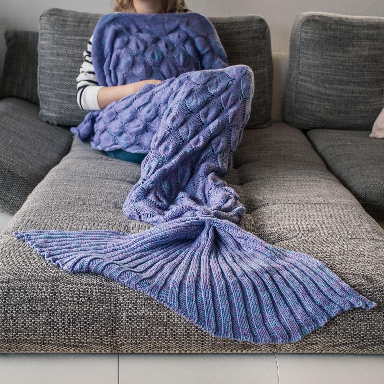 Meerjungfrauen Decke - Violett