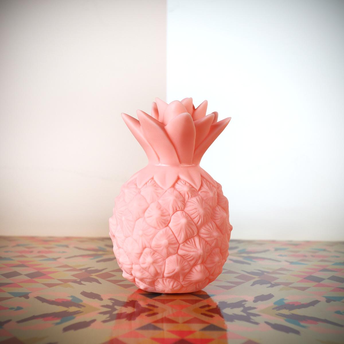 Mini Ananas Leuchte Pink
