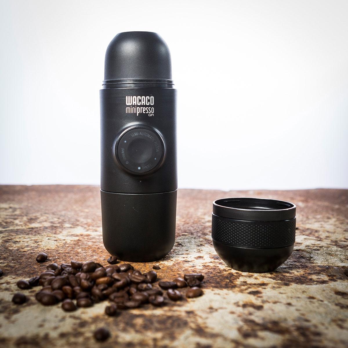 Minipresso Die kompakteste Espressomaschine der Welt Gemahlener Kaffee