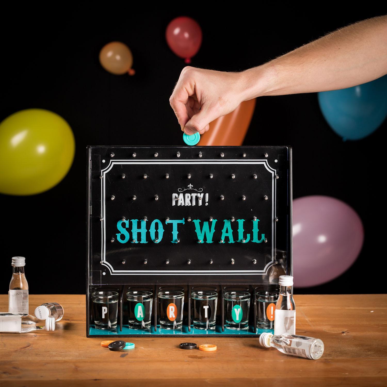 Shotgläser Wand Partyspiel