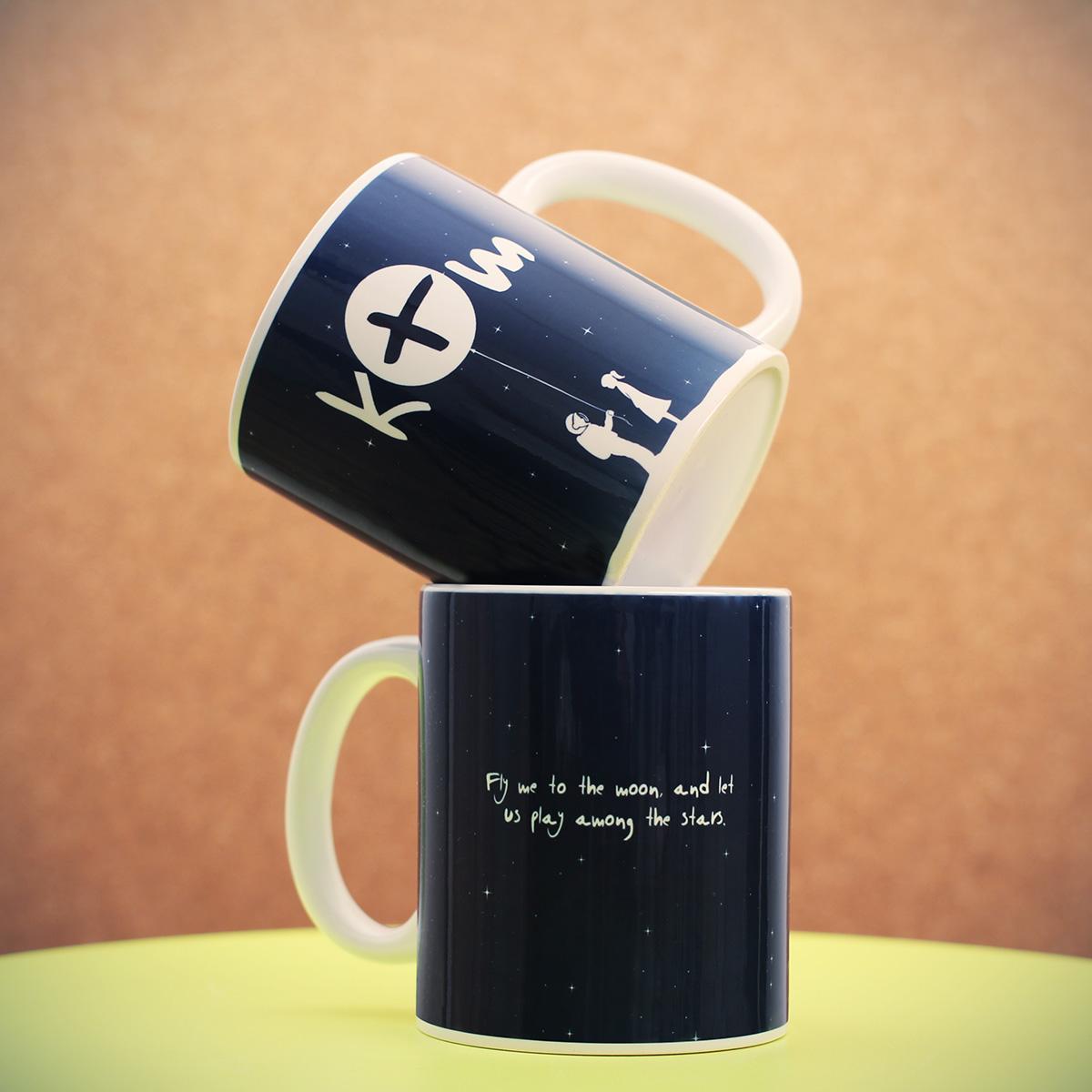 Personalisierbare Weltall Tasse Design