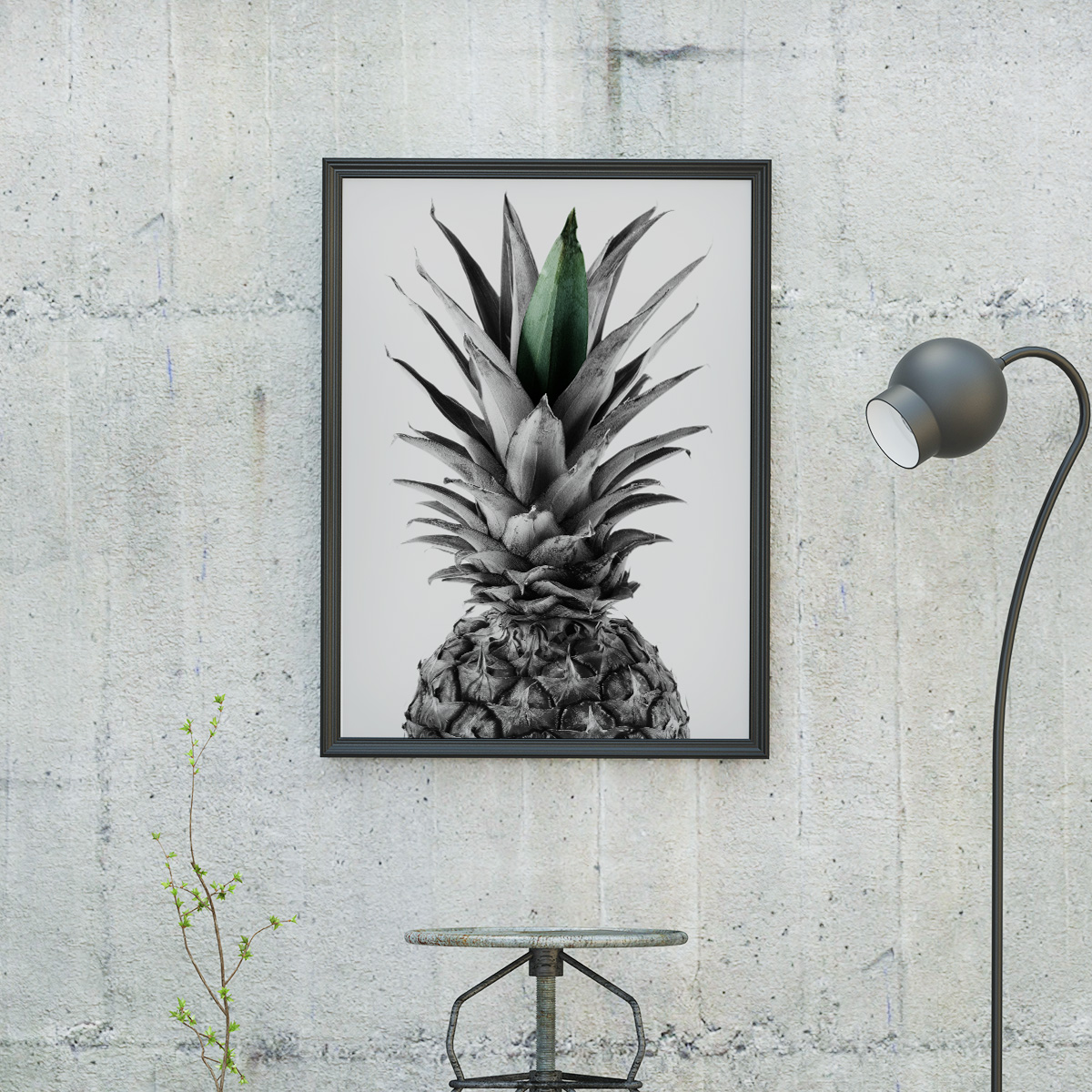 Ananas Poster by MottosPrint Design