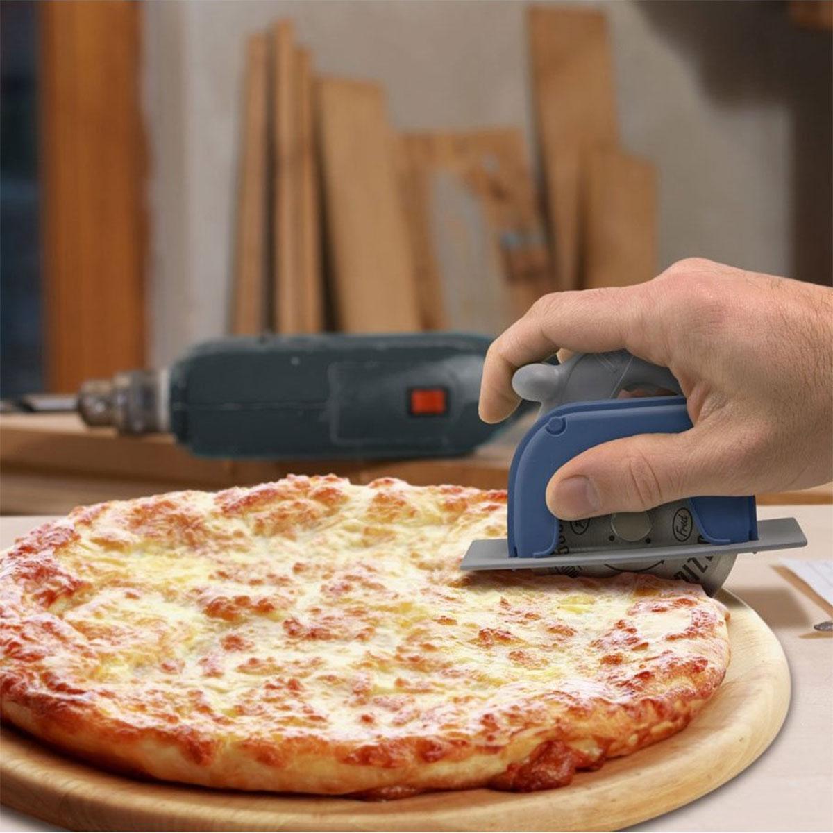 Pizzaschneider in Kreissägenform