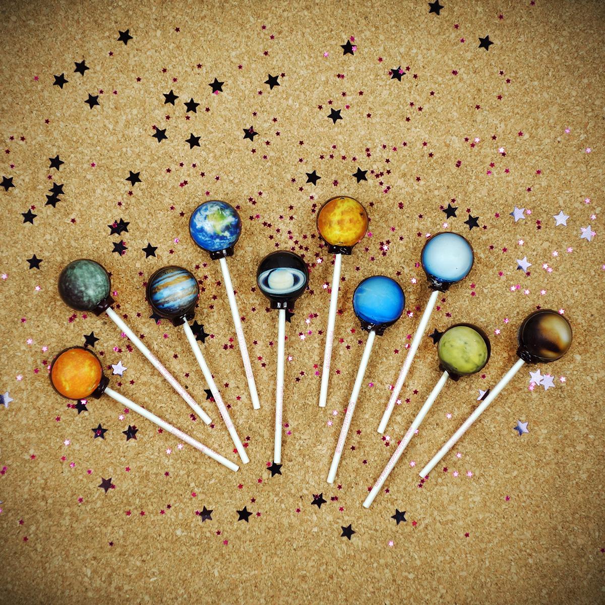 Galaktische Lollipops Planeten