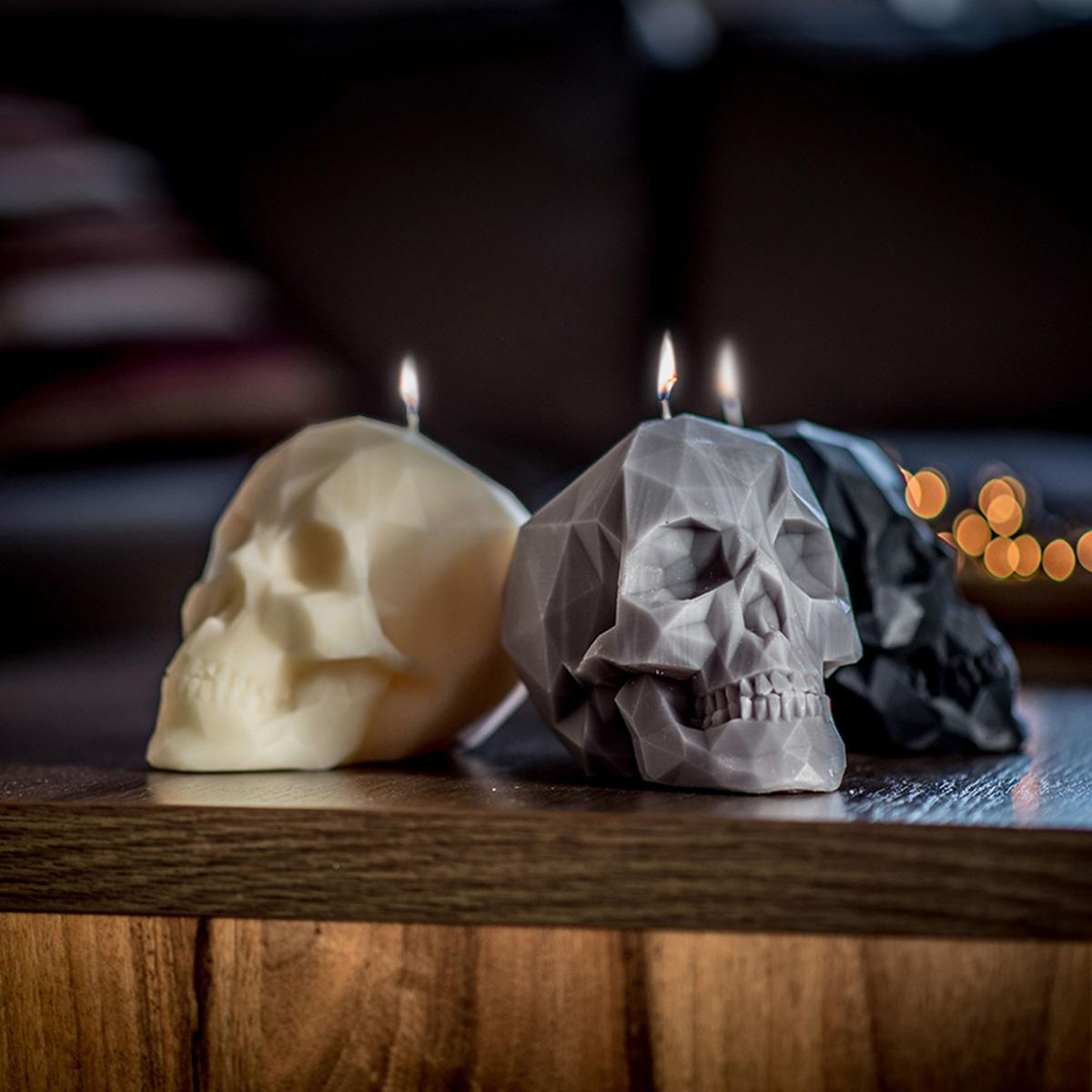 Totenschädel Kerze