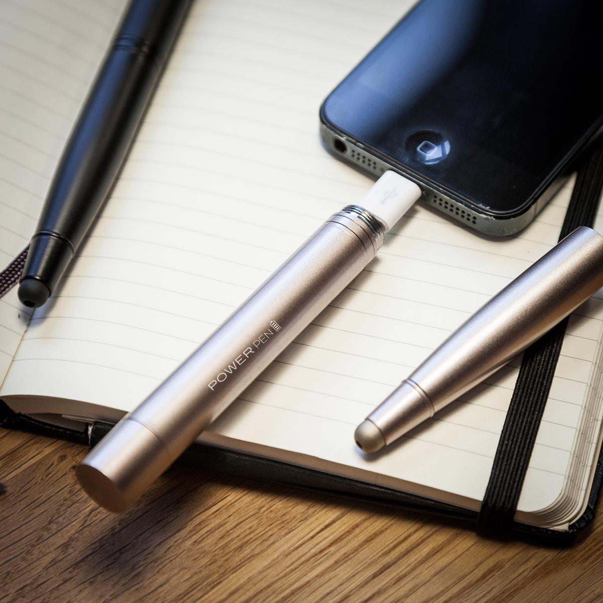Connector Kugelschreiber Ladegerät schwarz