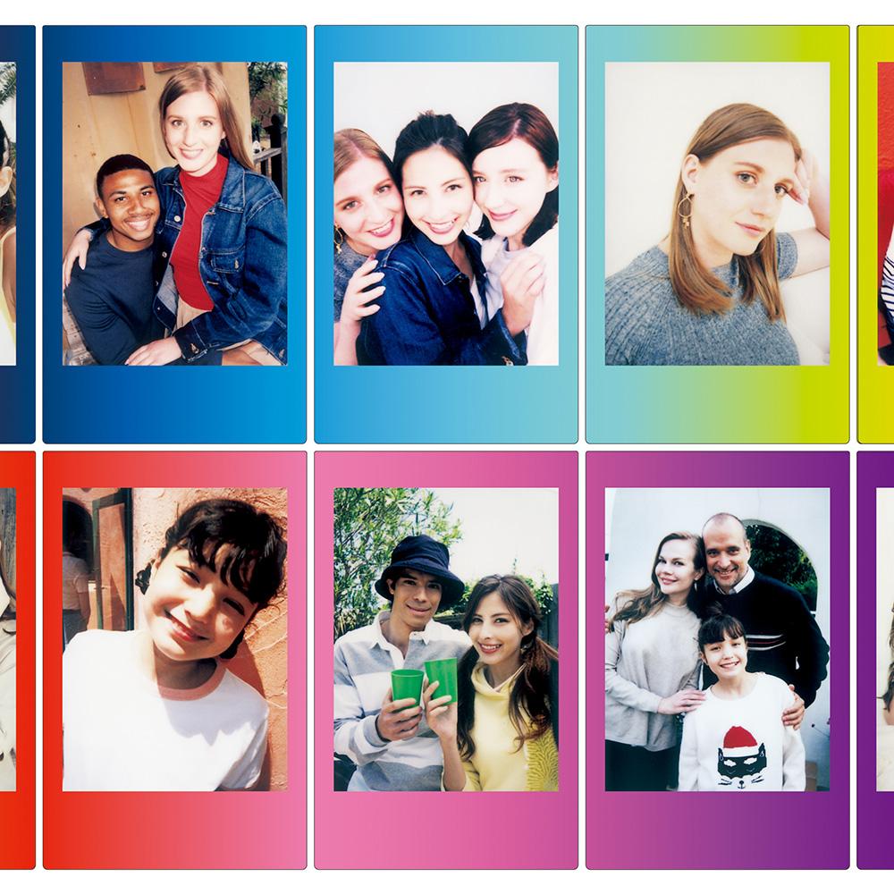 Fuji Instax Filme mit farbigen Rahmen - Schwarz