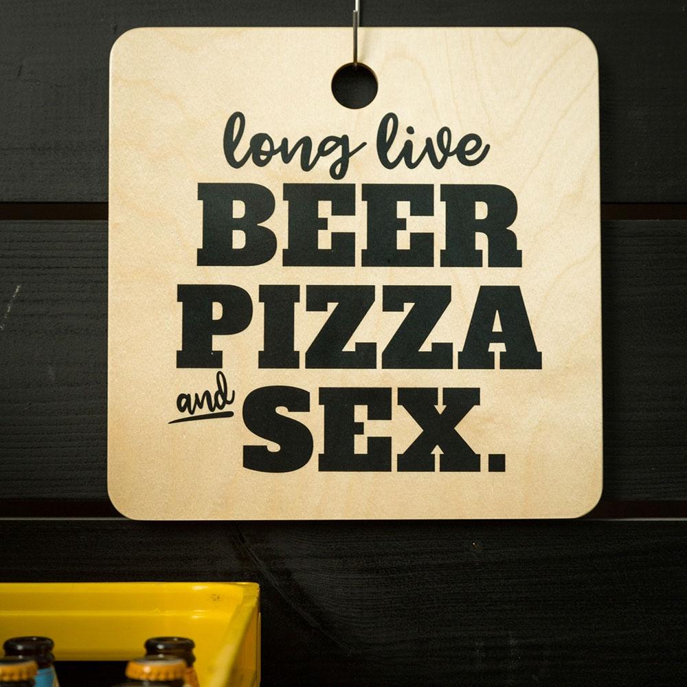 Schneidebrett Long Live Beer ... Design