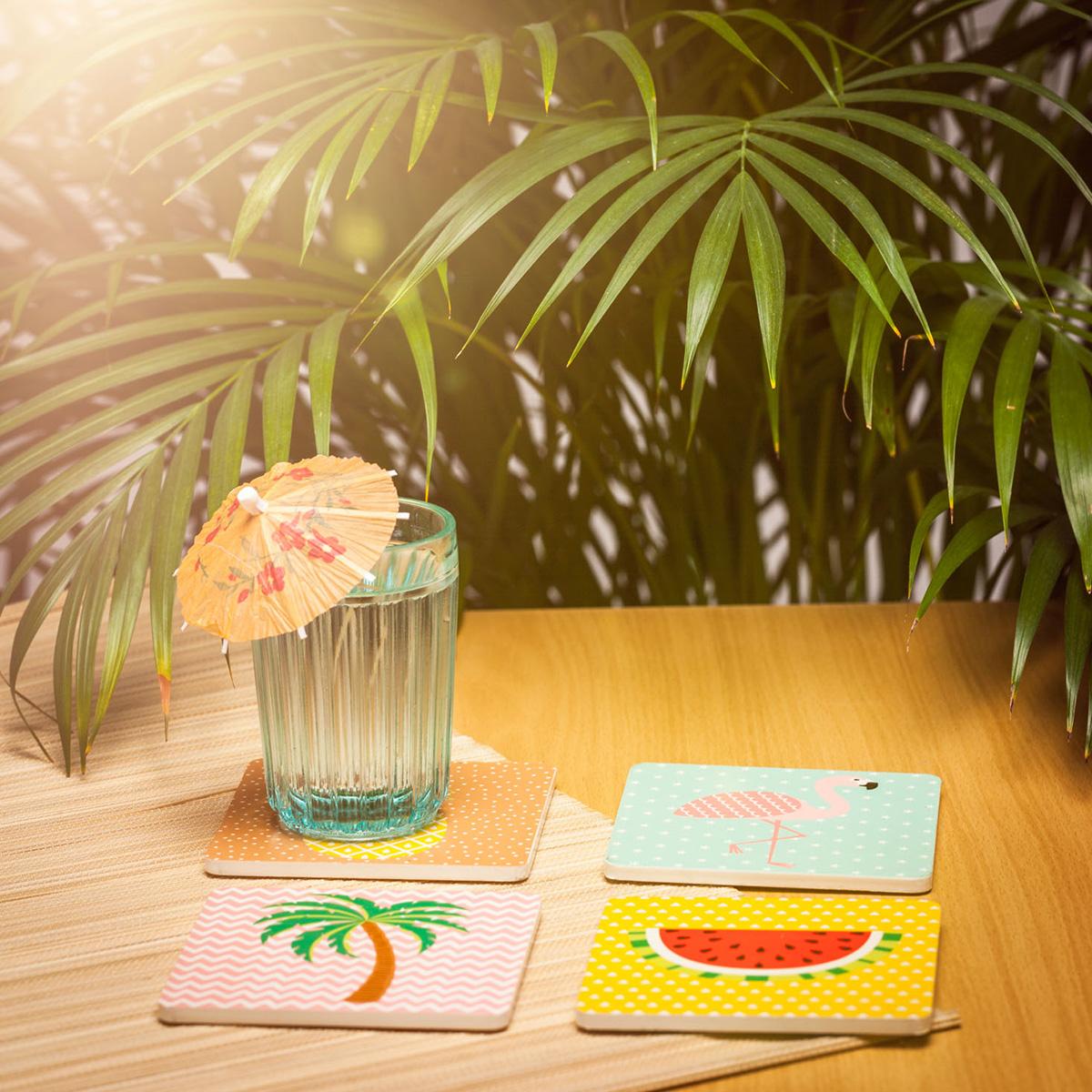 Tropische Untersetzer 4er Set