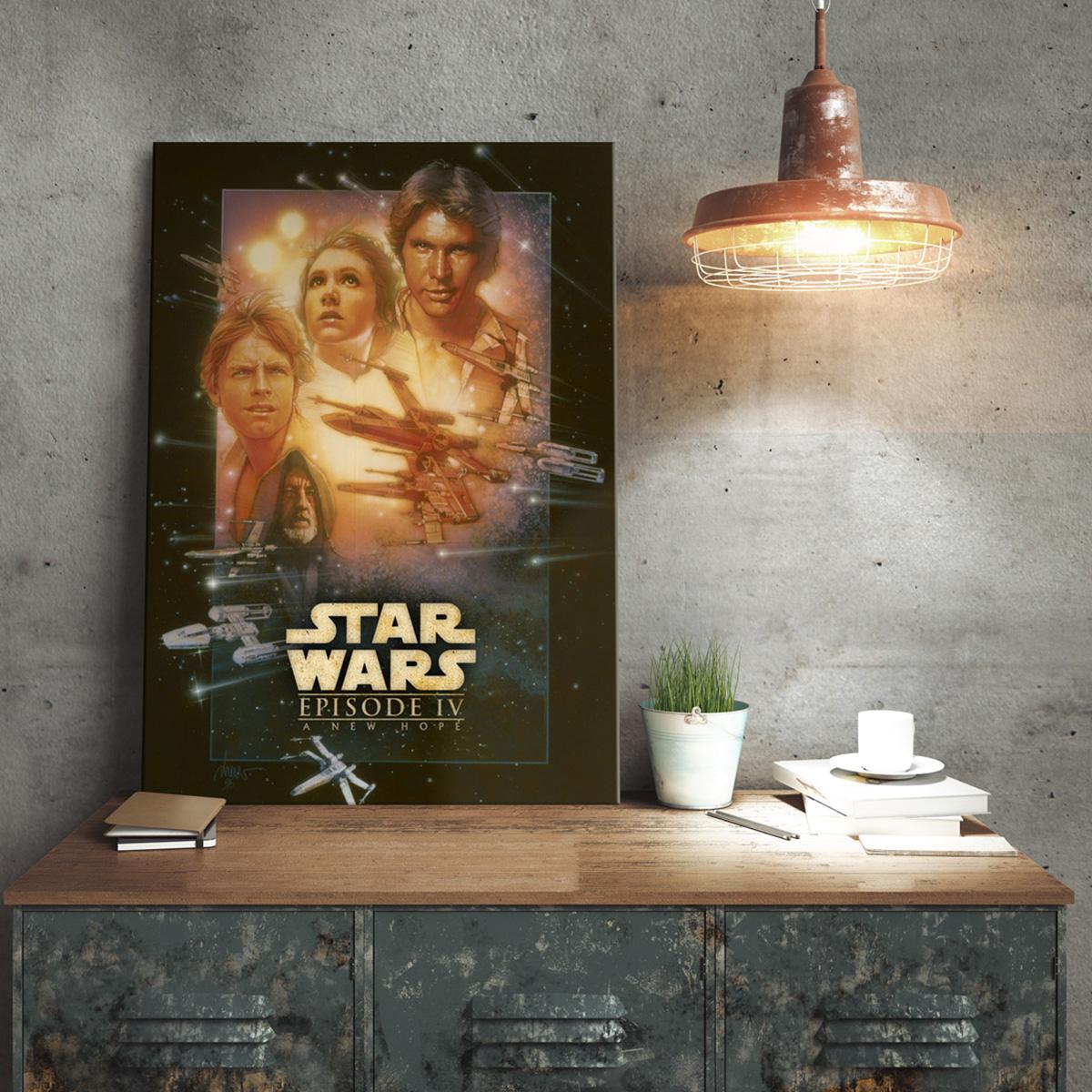 Star Wars Metallposter Eine neue Hoffnung