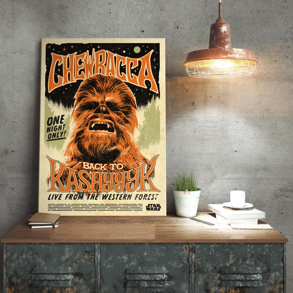 Star Wars Metallposter Chewbacca