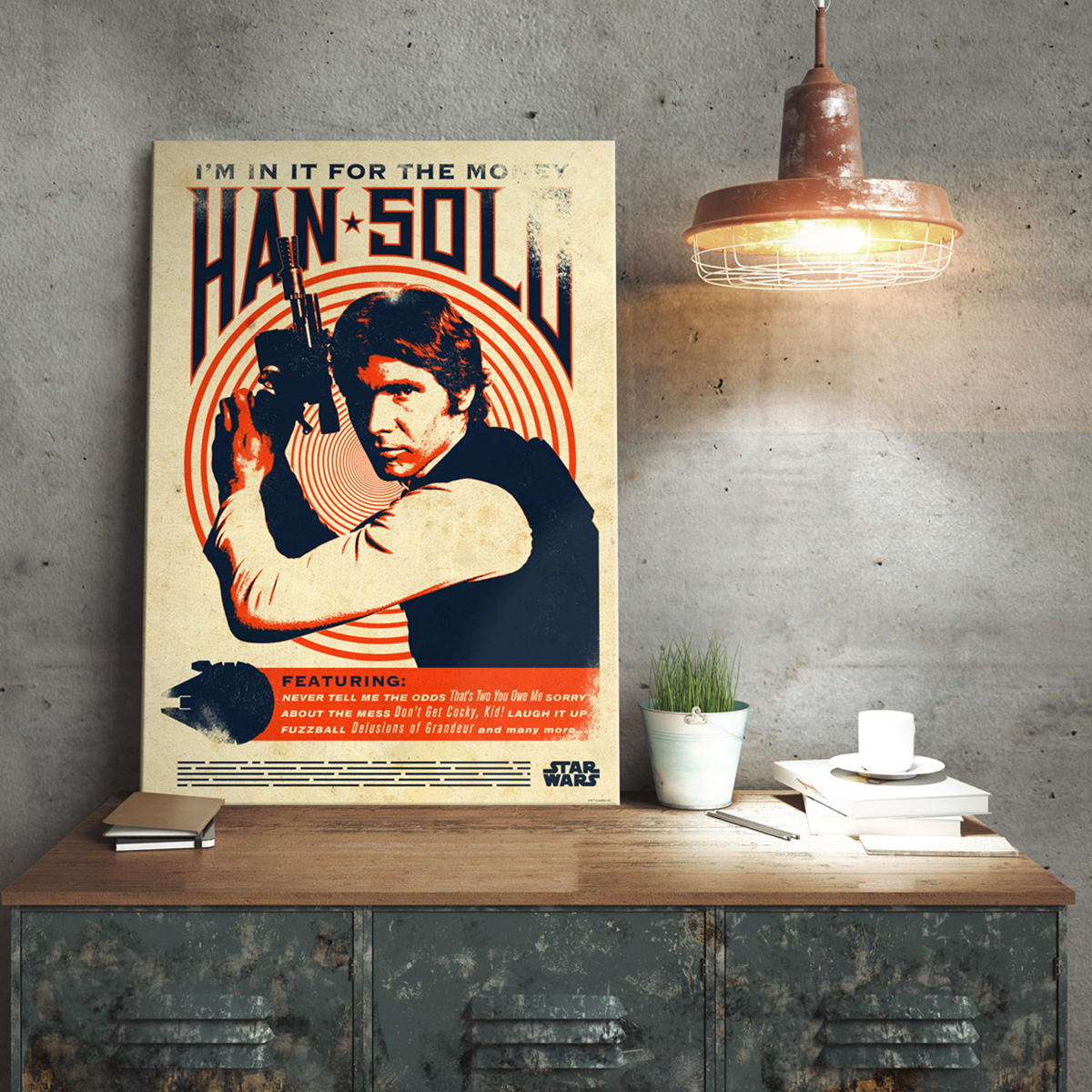 Star Wars Metallposter Han Solo Retro