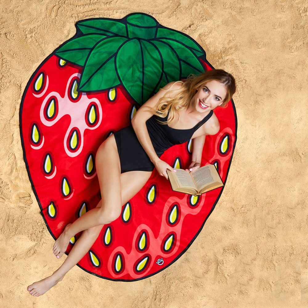 Erdbeer Strandtuch