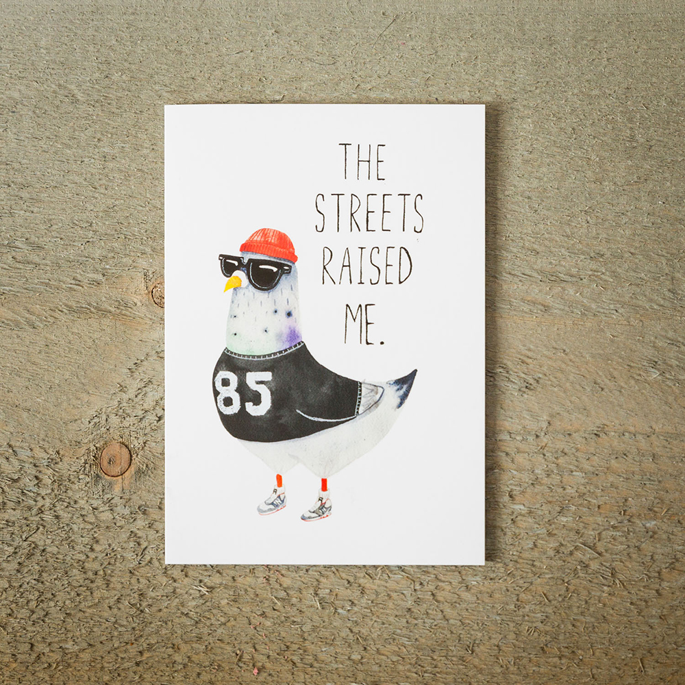 Grußkarte Street Pigeon