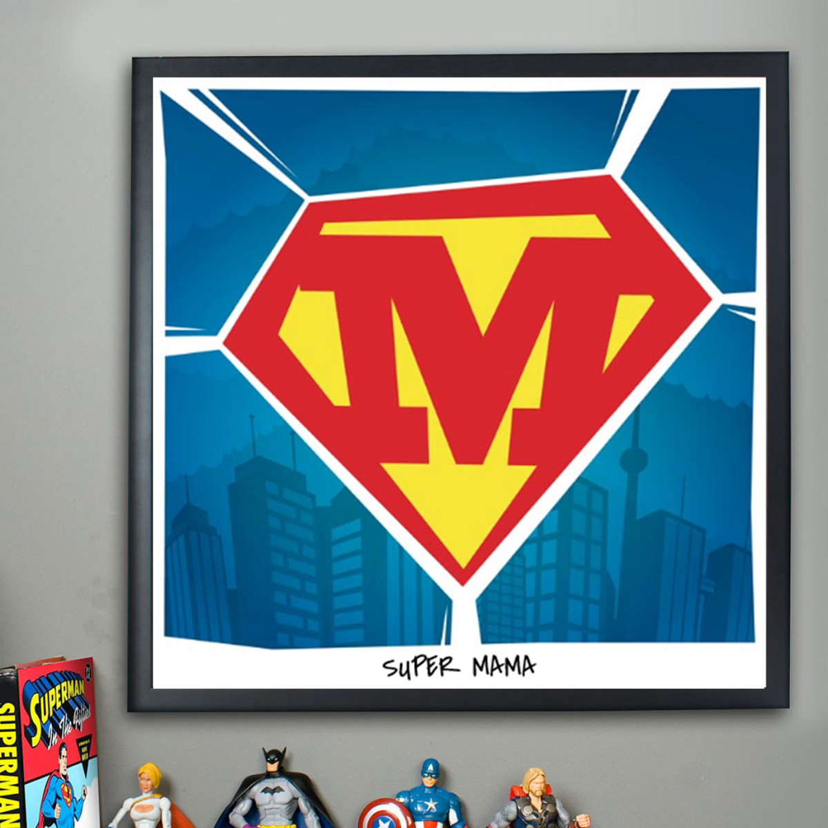 Superman   Personalisierbares Poster
