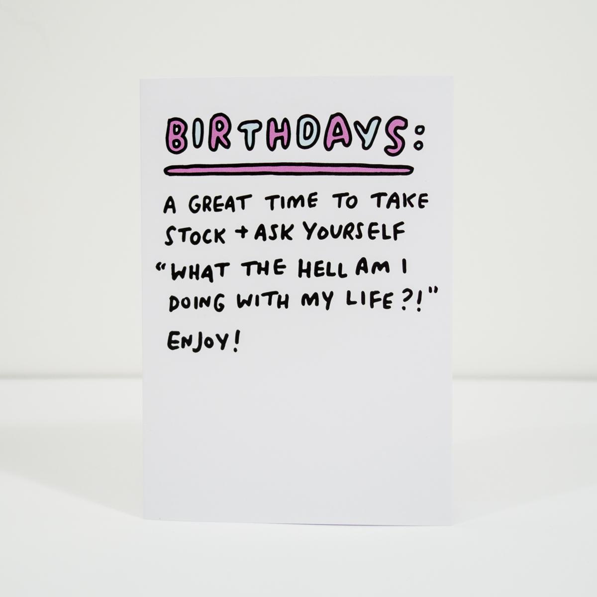 Geburtstagskarte Take Stock