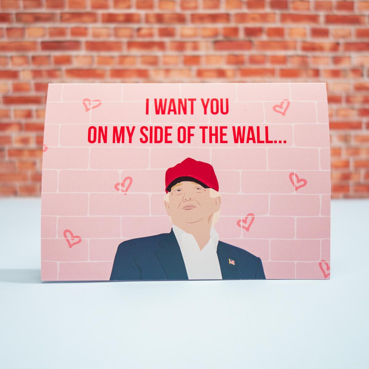 Valentinstagskarte My Side Of The Wall