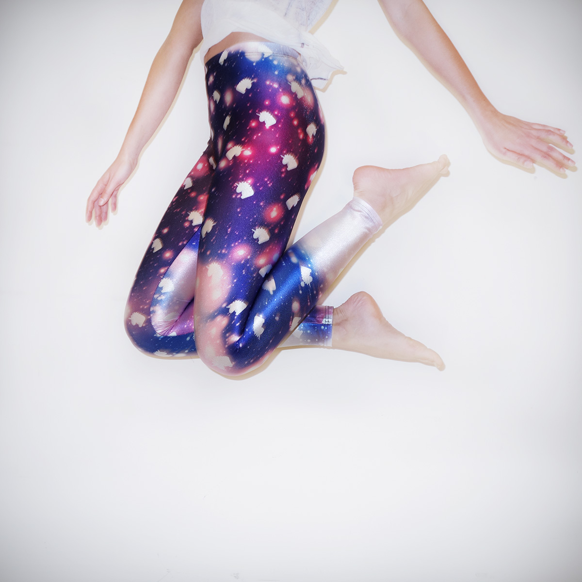 Galaxy Einhorn Leggings Large