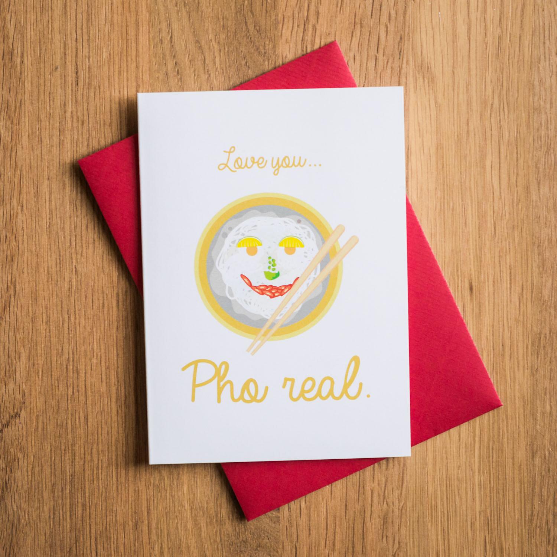 Valentinstagskarte Pho Suppe