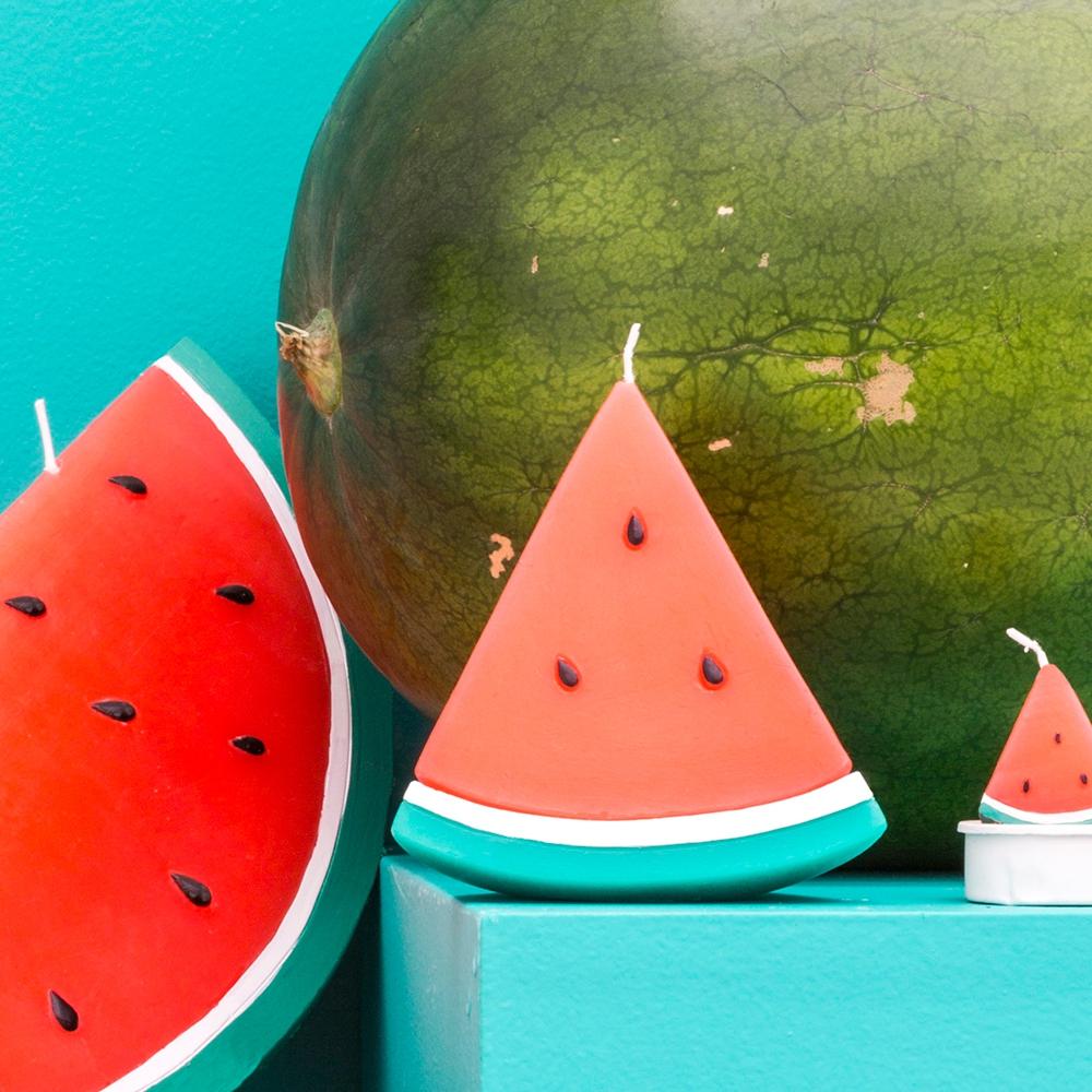 Wassermelonen Kerze