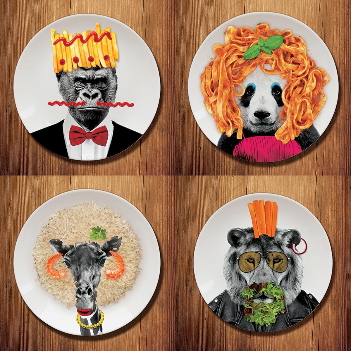 Wild Dining Teller Panda