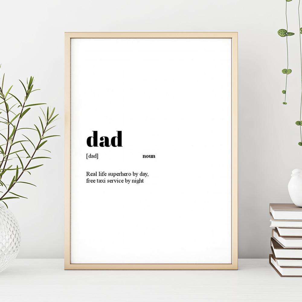 Papas persönlicher Wörterbucheintrag zum Vatertag.