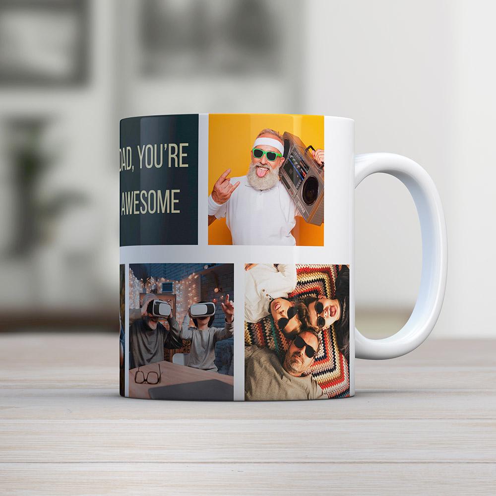 vatertagsgeschenke personalisierbare tasse mit fotos